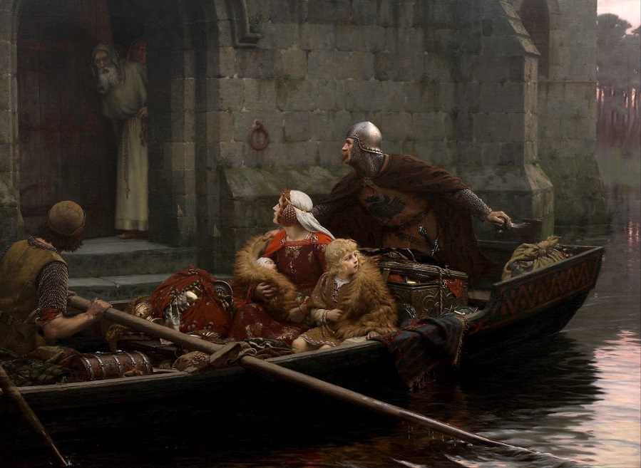 1897 Трудные времена (Time of Peril) Окленд, Картинная галерея Той о Тамаки.