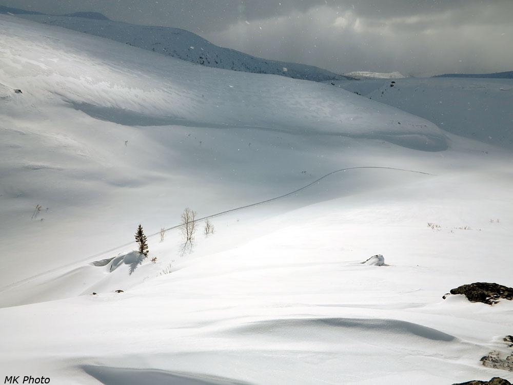 Снегоходный след