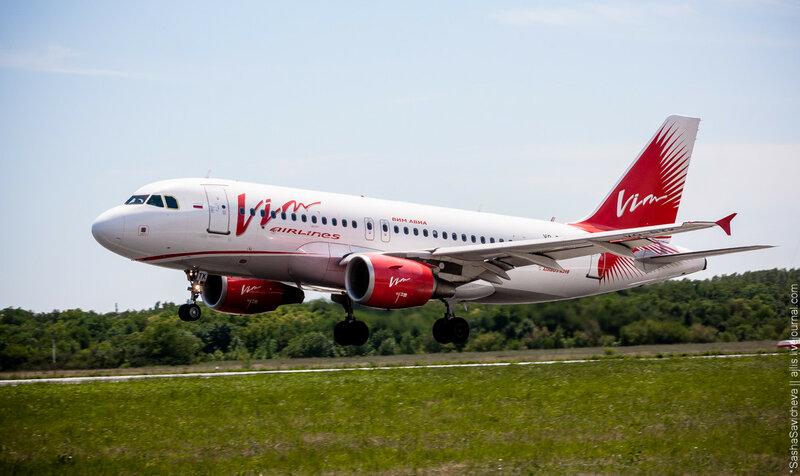 Airbus A319-111 Vim-Avia VQ-BTK Споттинг в Ростове-на-Дону