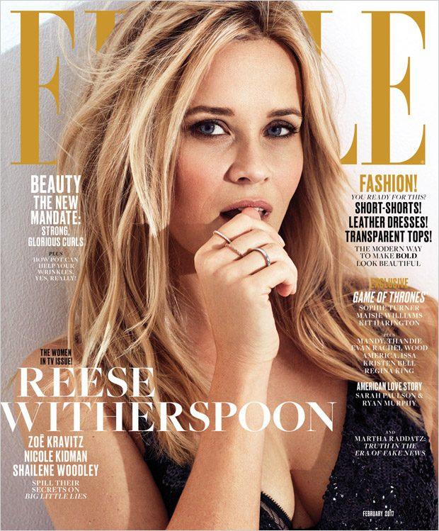 Николь Кидман и Риз Уизерспун в Elle Magazine
