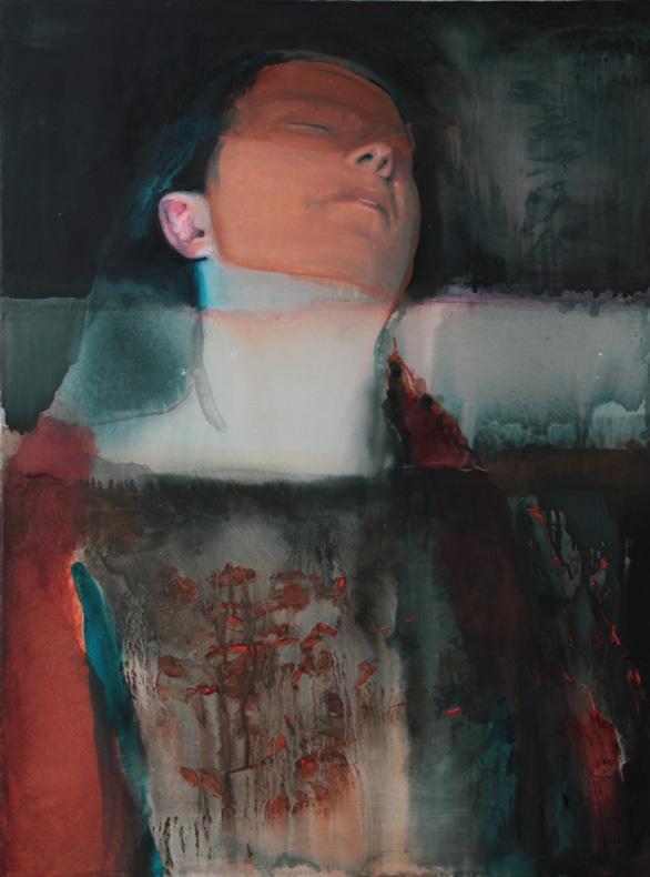 Персонажи на картинах Залозной находят собственный способ бегства от действительности – они спят. Со