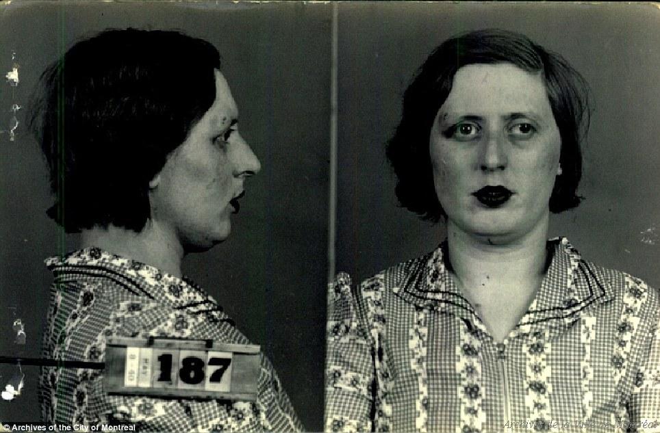 Это портреты монреальских проституток начала 1940-х. Они попали в картотеку местной полиции после со