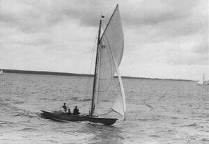 Общий вид яхты во время соревнований