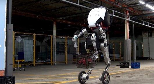Boston Dynamics показала ВИДЕО испытаний четырехногого колесного робота Handle