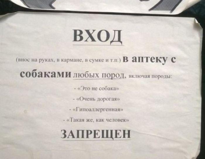 Таблички и объявления