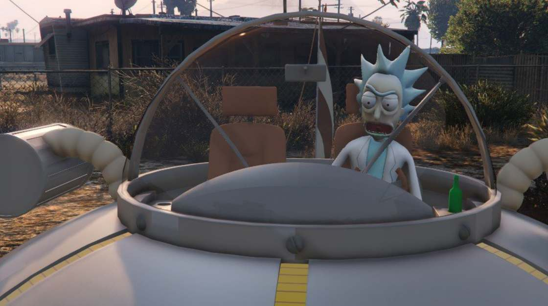 Rick and Morty are invading GTA V