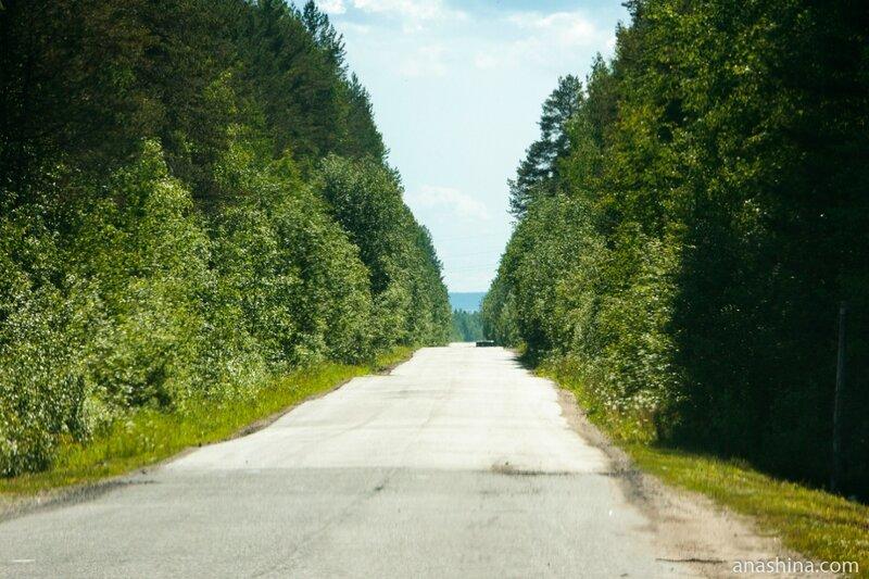 Дорога в поселок Пяльма, Карелия
