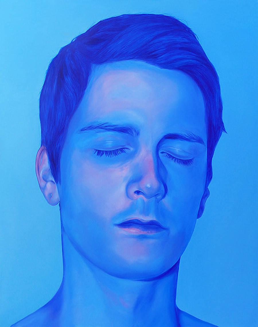Vibrant & Colorful Portraits Paintings by Jen Mann