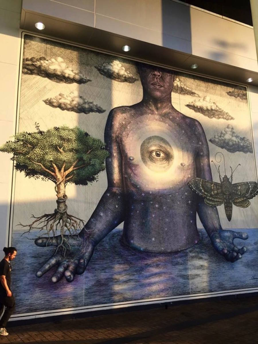 Realistic Giant Mural in Puerto Rico