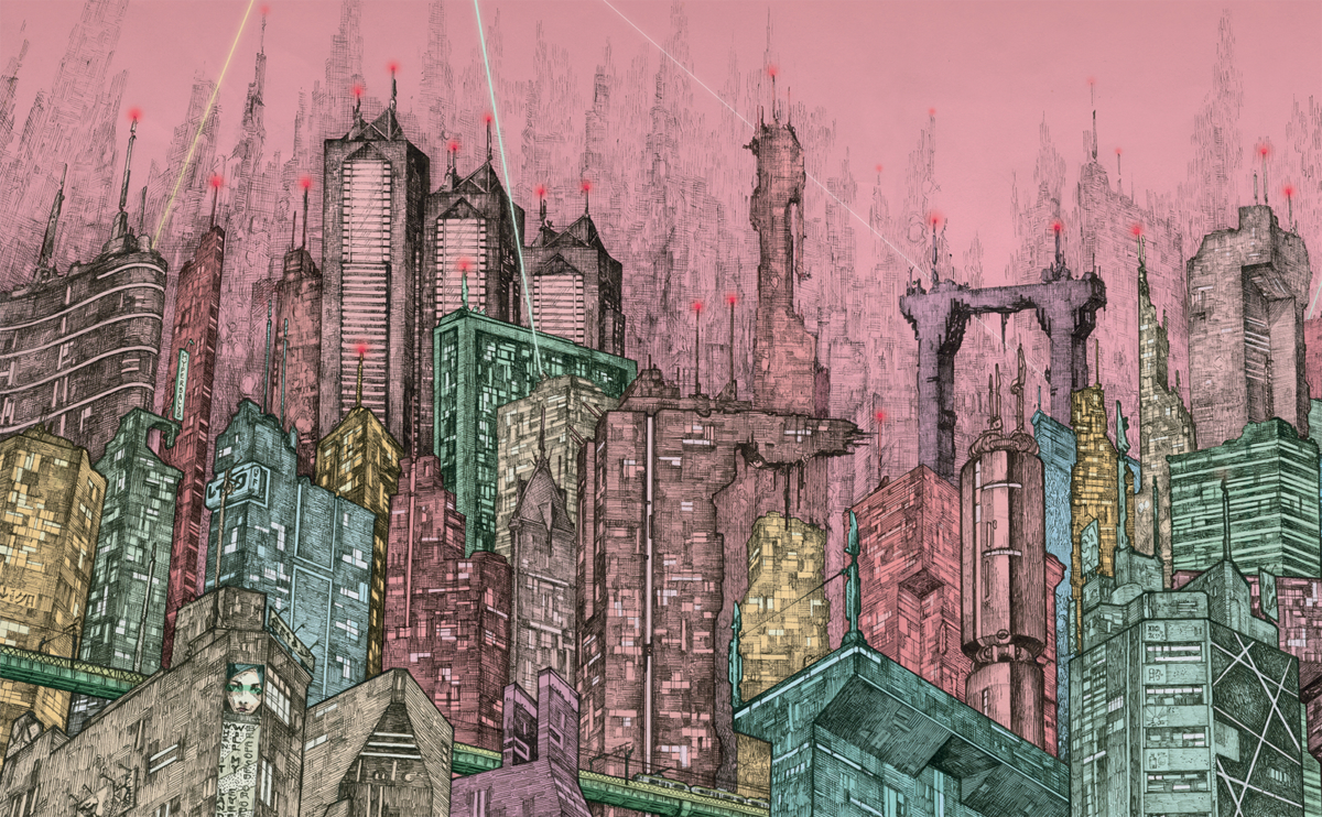 A 300-Hour Illustration of Tokyo by Audun Grimstad