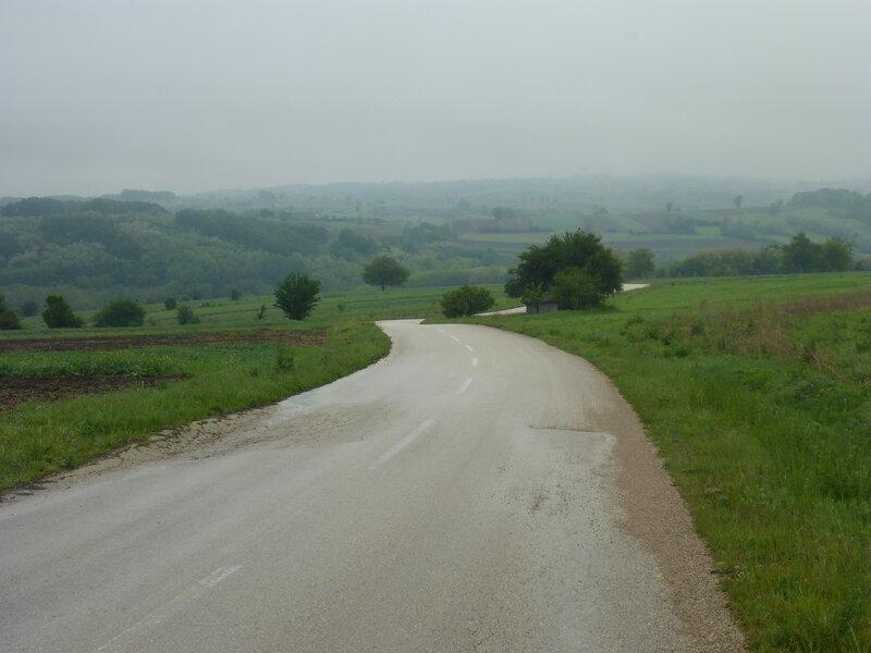 дождь, туман и дорога