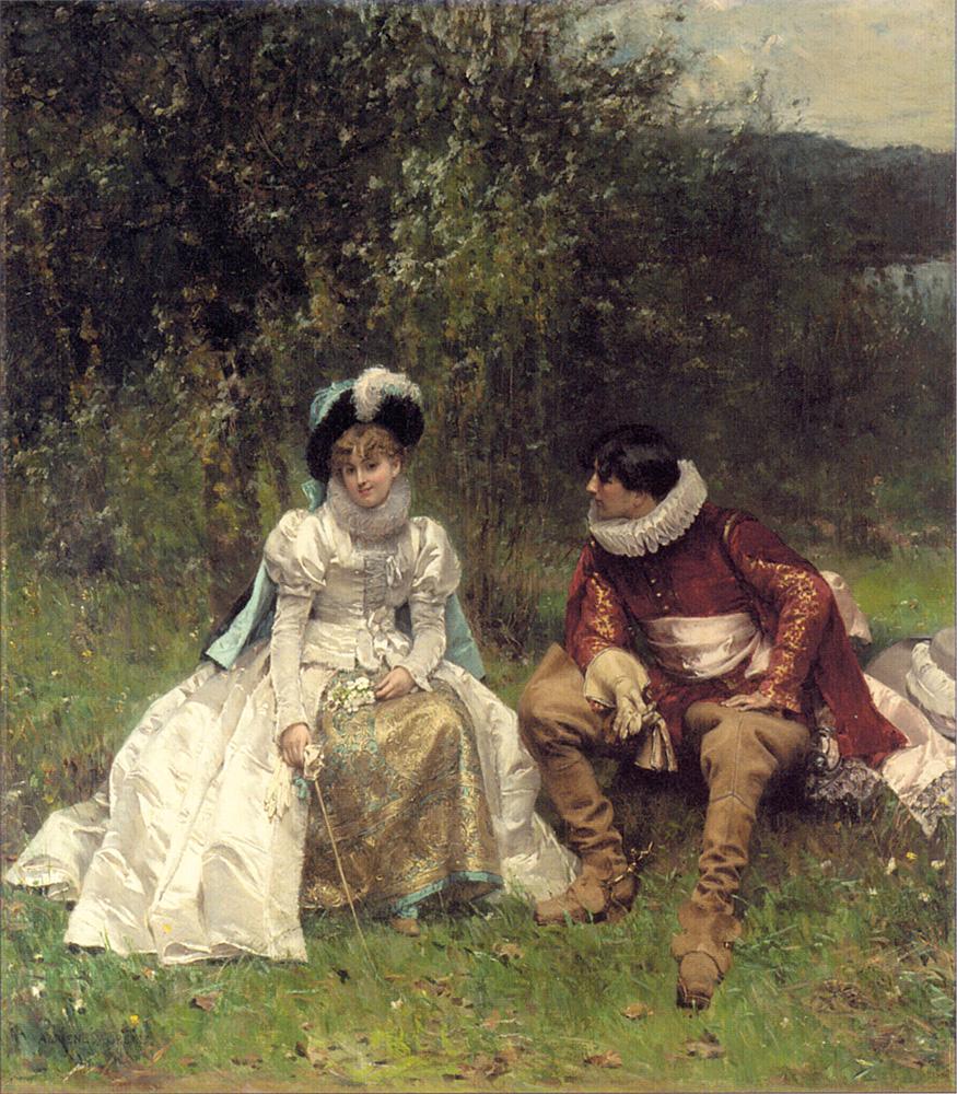 Adrien Moreau<br /> The courtship
