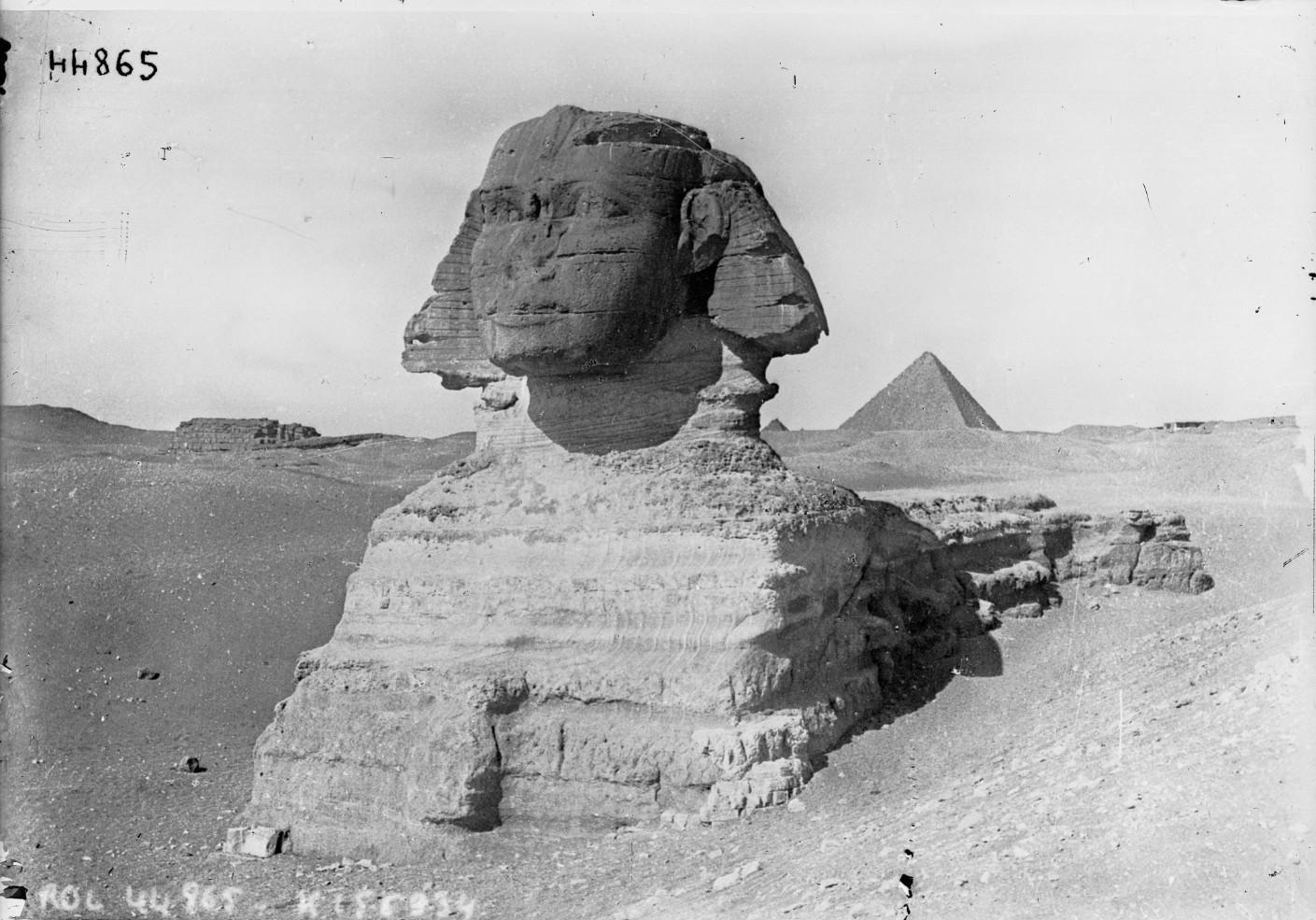 Гиза. Сфинкс и Пирамиды. 1915