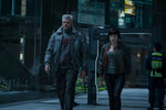 Scarlett Johansson plays The Major and Pilou Asbaek plays Batou in Ghost in the Shell from Paramount Pictures and DreamWorks Pictures in theaters March 31, 2017.