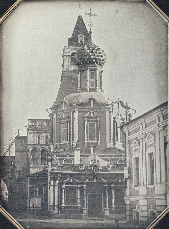 1845-52 Вид церкви Владимирской богоматери у Никольской башни китайгородской стены.jpg