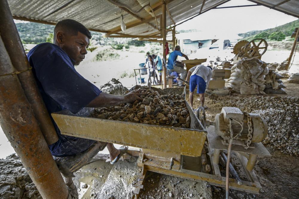 Незаконная добыча золота в Венесуэле