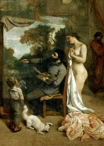 Жан Дезире Гюстав Курбе Jean Désiré Gustave Courbet; The artist's studio