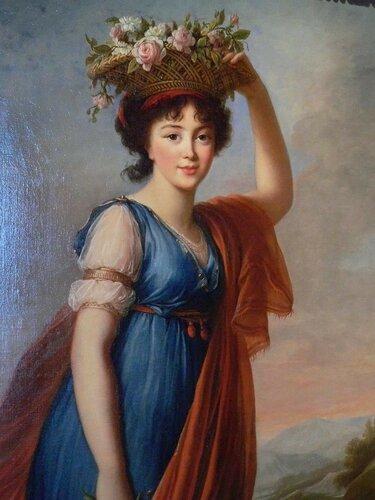 Élisabeth-Louise Vigée-Le Brun; Евдокия Голицына в образе Флоры 1799
