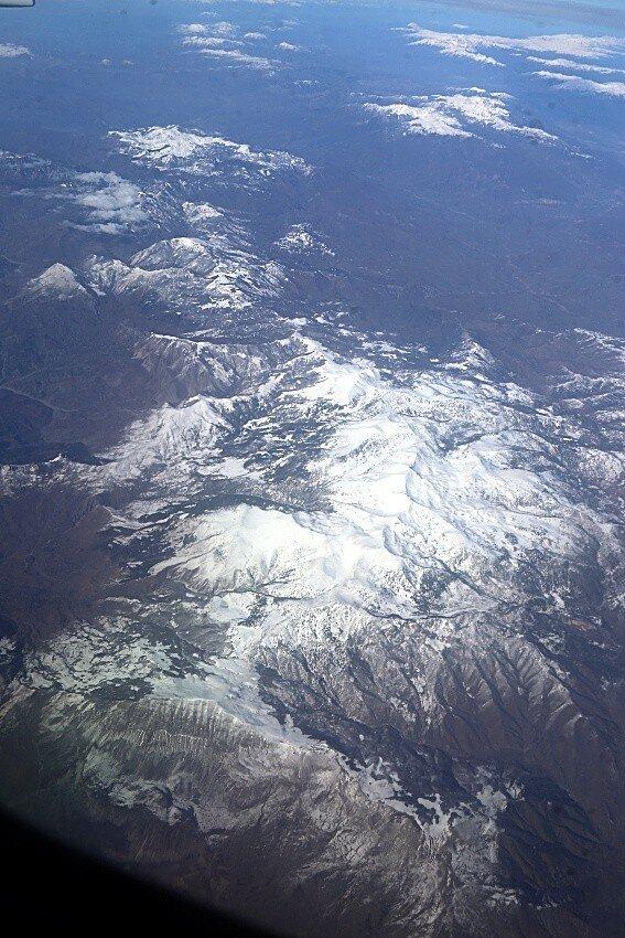 Албания, вид с самолёта
