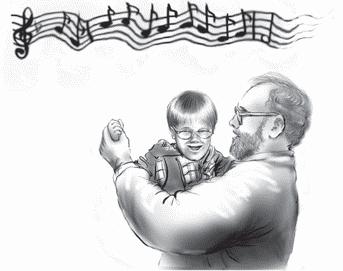 Танцуйте под музыку с ребенком на руках