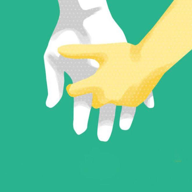 Люди, которые держатся за руки таким образом, отличаются крайней уверенностью. Отношения таких пар к