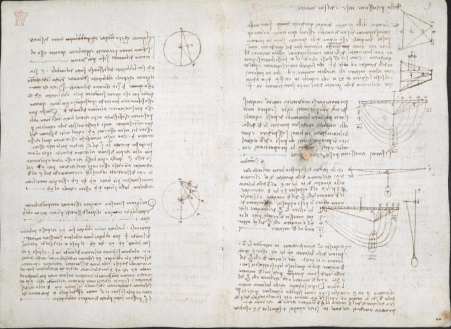 570 оцифрованных страниц из дневников Леонардо да Винчи опубликованы онлайн (15 фото)