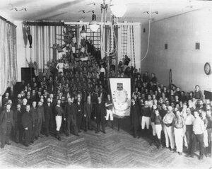 Группа членов гимнастического общества Пальма в день 50-летнего юбилея