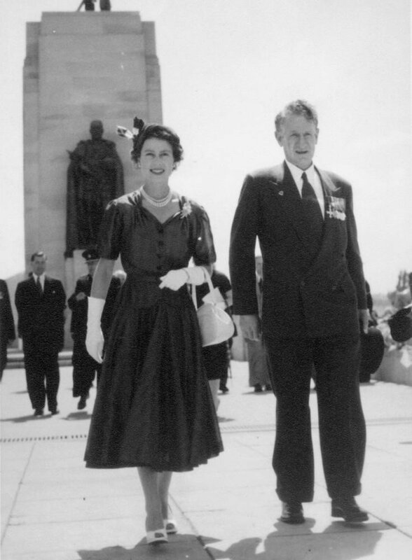 Sir Walter Jackson Cooper and Queen Elizabeth II, 1954