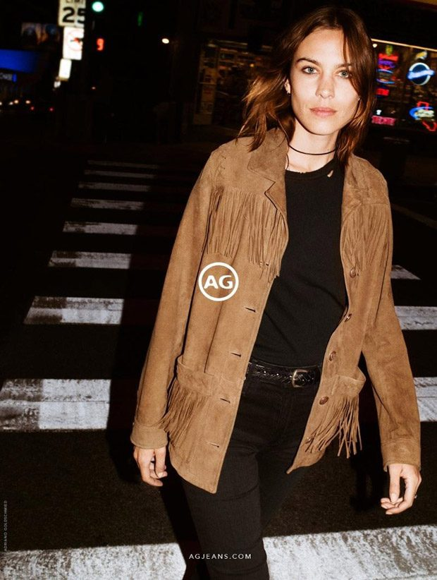 Alexa Chung is the Face of AG Jeans Fall Winter 2017.18 Collection