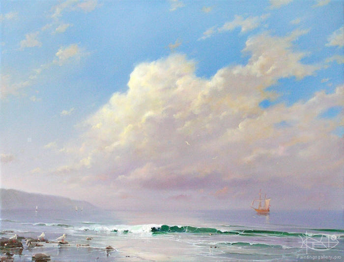 www.PaintingsGallery.pro_Dmitriew_George_Morning_On_Sea