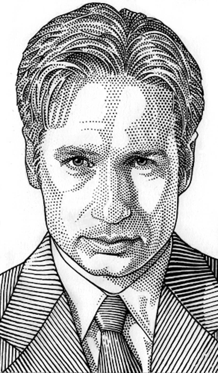 Famous Celebrities Portraits Drawings Made of Dots