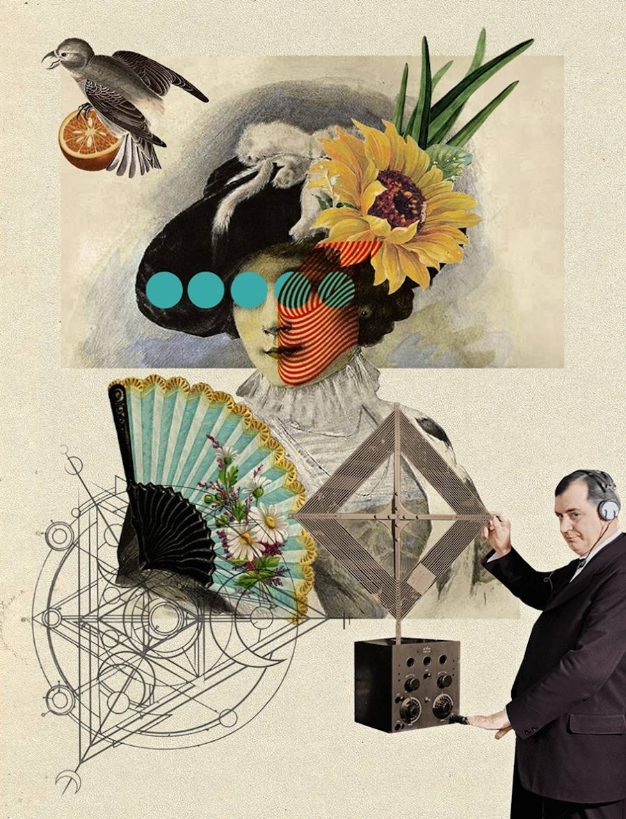 Pop and Strange Collage Series by Eduardo Martinez