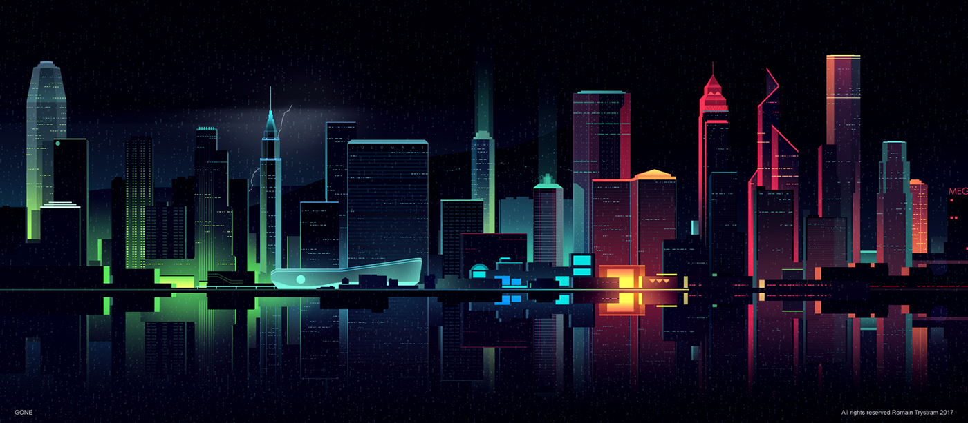 Brilliant Digital Illustrations of a City by Night (15 pics)