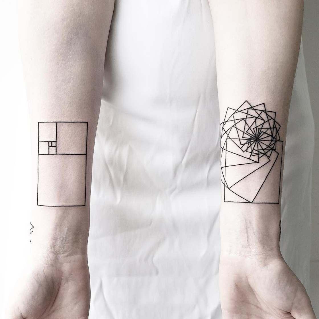 Geometrical & Minimalist Tatoos by Malvina Maria Wisniewska