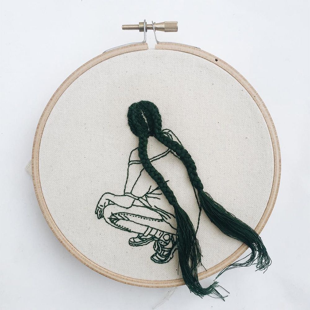 Fantastic Hairstyles Embroideries by Sheena Liam