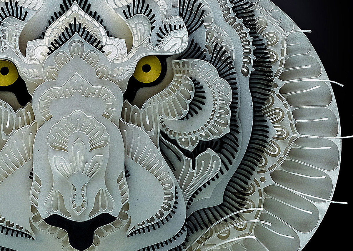 Intricate Papercut Animal Portraits by Patrick Cabral (12 pics)