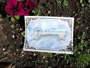 Ключ и цветок