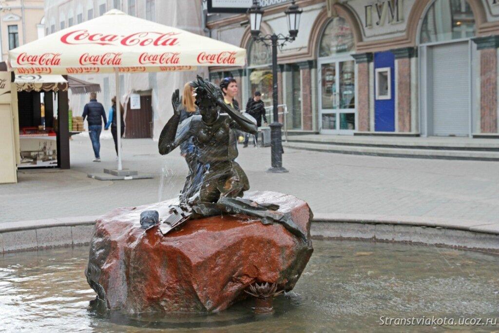 Фонтан Водяная на улице Баумана в Казани