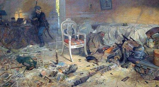 Святые Царственные Мученики Павел Рыженко. Ипатьевский дом после цареубийства