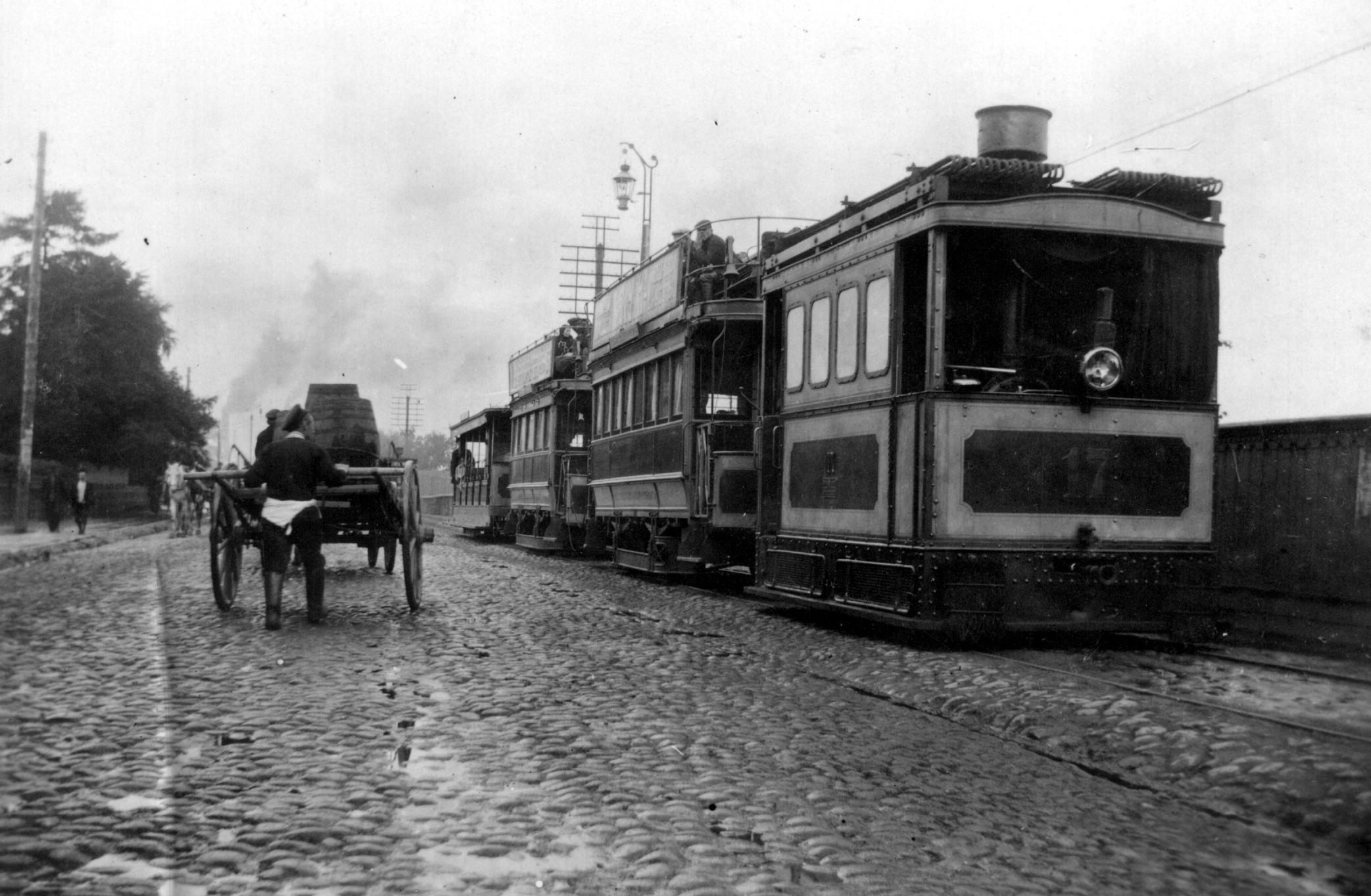 18. Паровой трамвай на пути из Санкт-Петербурга в Шлиссельбург