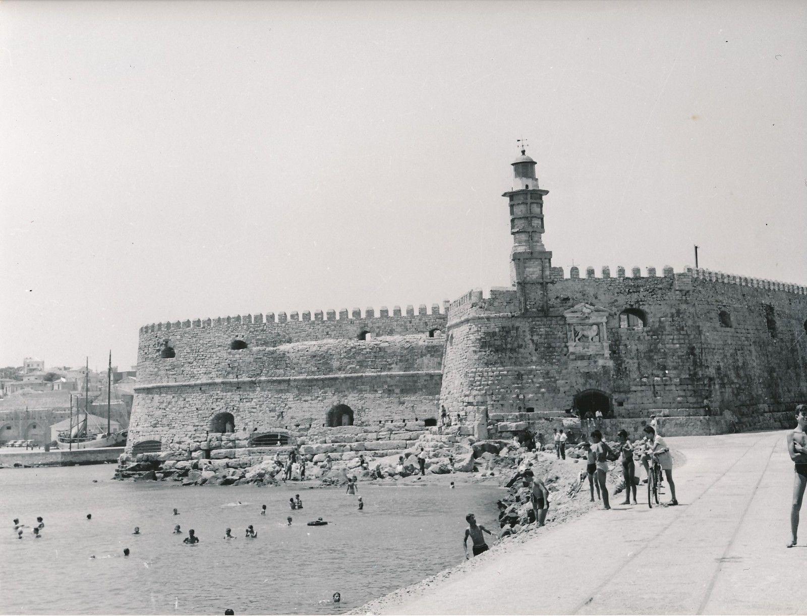 1960.  Ираклион. Крепость Кулес — средневековая морская крепость