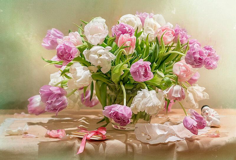 Букет тюльпанов...
