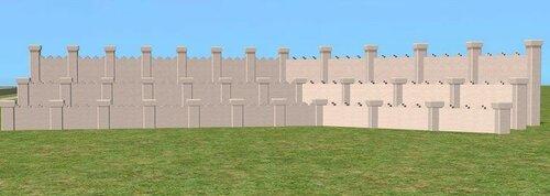 Multi-height Royal Courtyard Fences by Celebkiriedhel