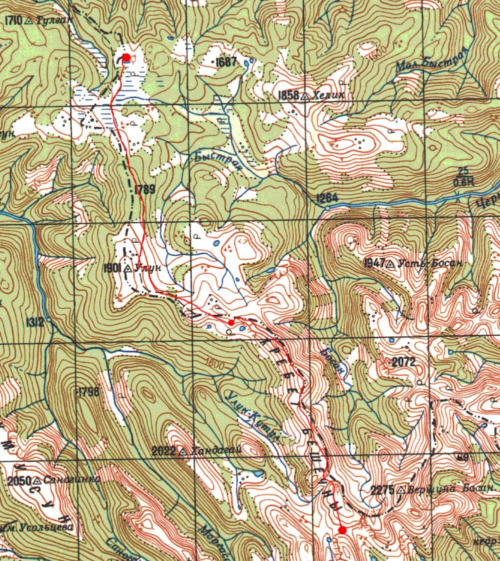 Карта маршрута 10 июня