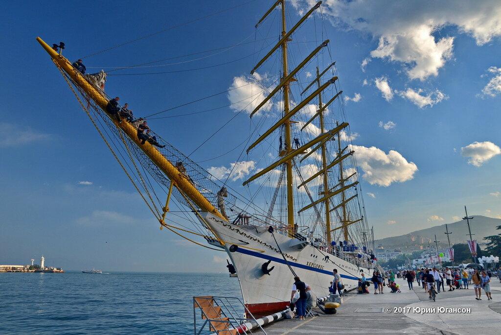 Frigate Chersonesos stays in Yalta