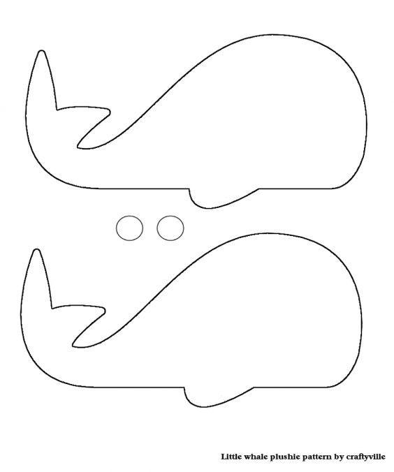 выкройка подушки кит