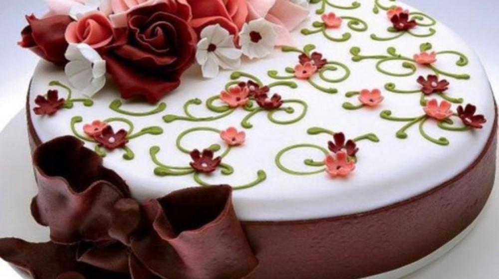 День кондитера! Торт с цветами для вас открытки фото рисунки картинки поздравления