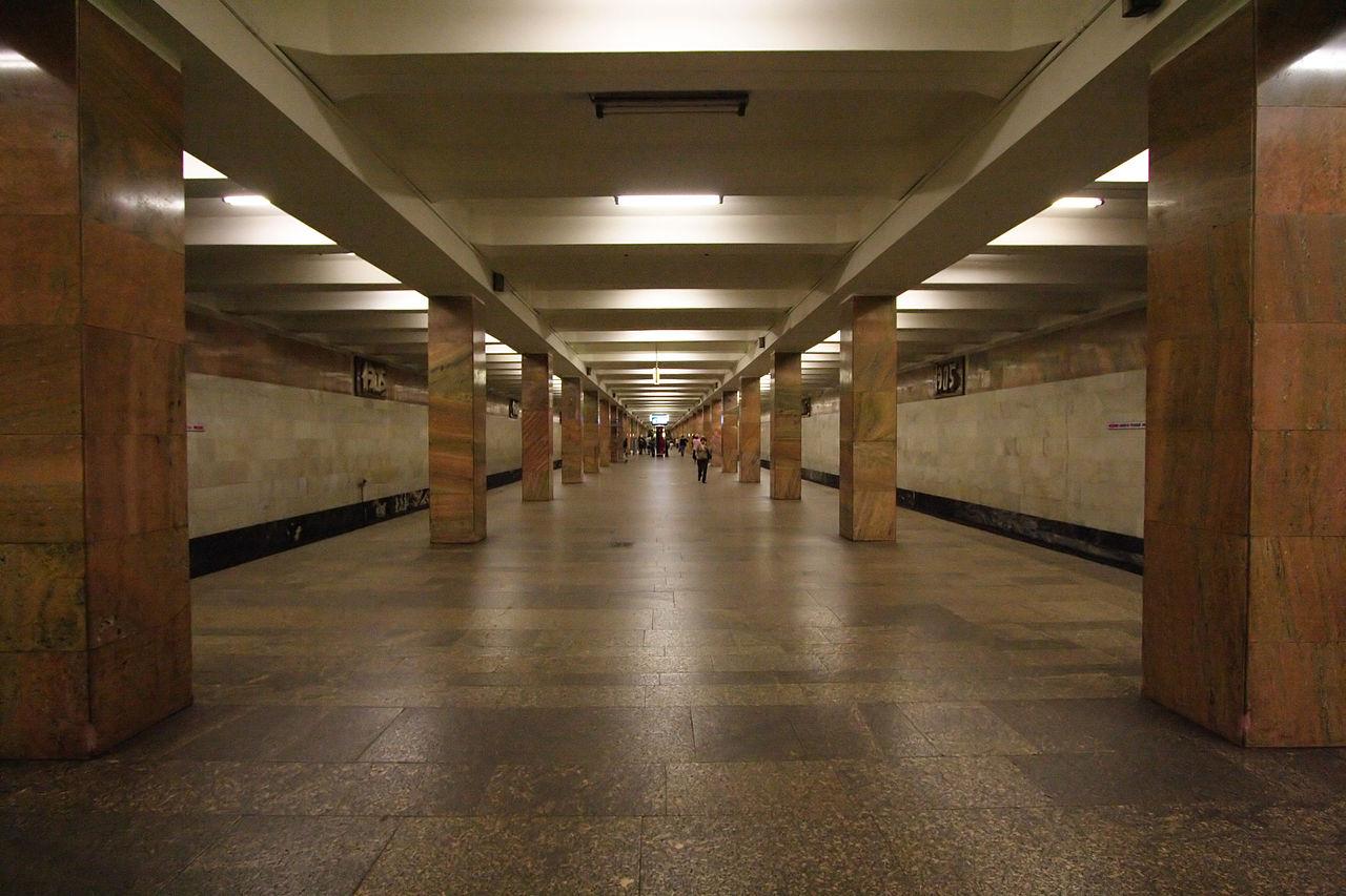 """Вариант голосового объявления станции метро «Улица 1905 года"""" наанглийском языке перезаписали"""