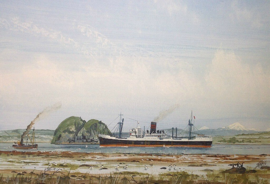 Clan Macdonald (4), Passing Dumbarton Rock in the Clyde.