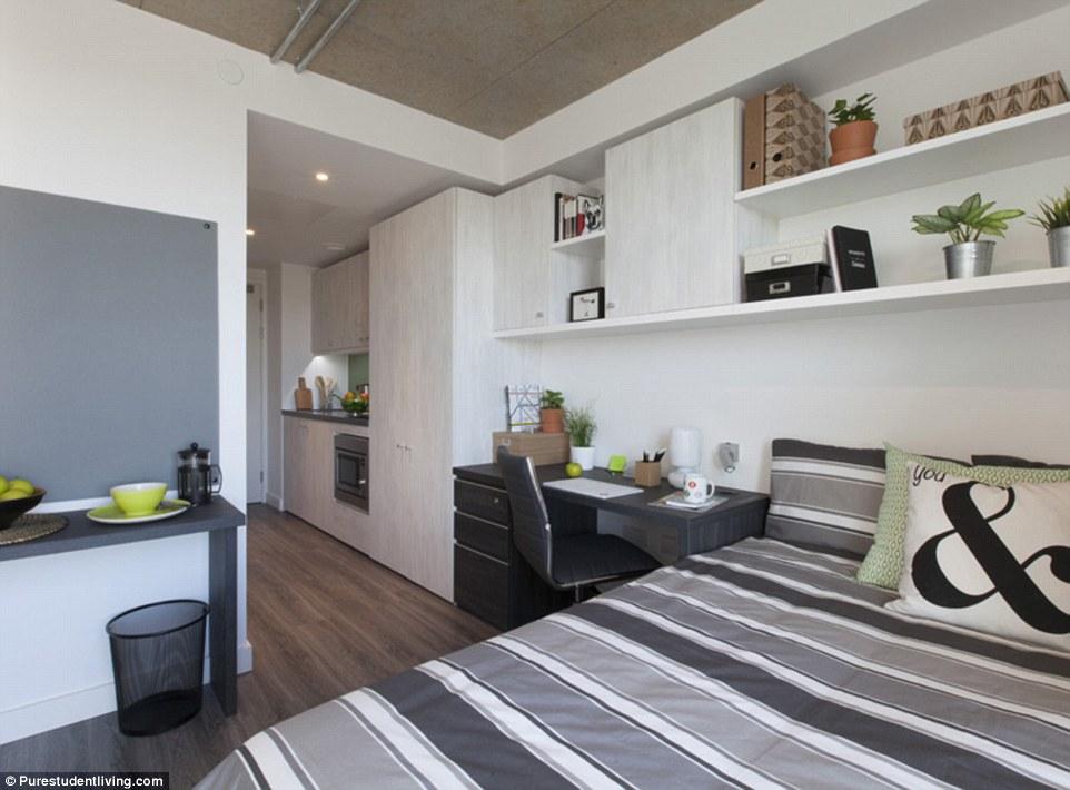 Каждая из комнат, располагающихся в семи высотных зданиях по всему Лондону, оснащена двуспальной кро